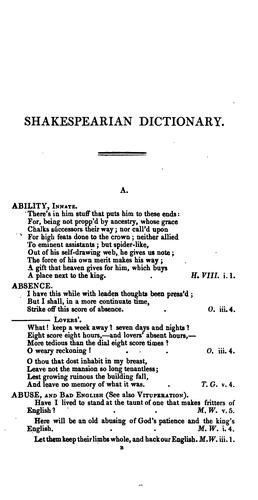 Download Dictionary of Shakespearian quotations.