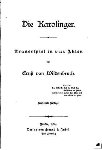 Download Die Karolinger.