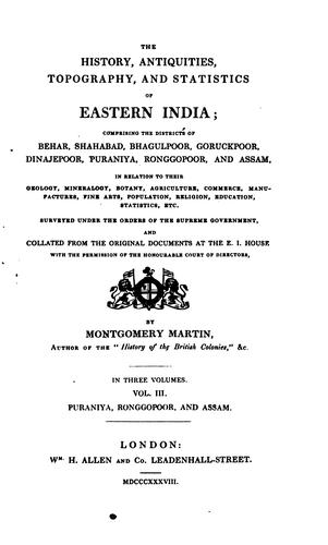 Download The history, antiquities, topography, and statistics of eastern India …