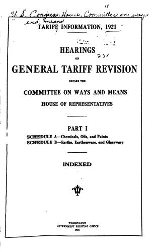 Download Tariff information, 1921.