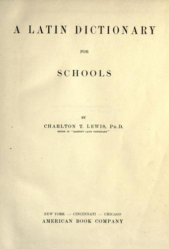 Download A Latin dictionary for schools