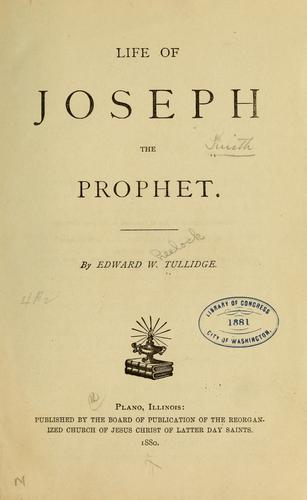 Life of Joseph the prophet.