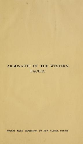 Download Argonauts of the western Pacific