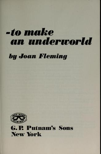 To make an underworld (Red mask mystery), Fleming, Joan