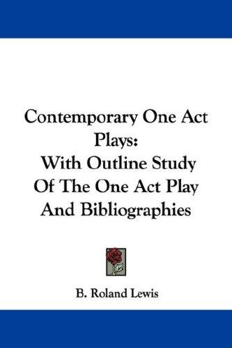 Download Contemporary One Act Plays