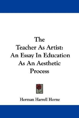 The Teacher As Artist