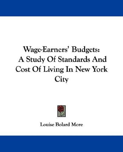 Wage-Earners' Budgets