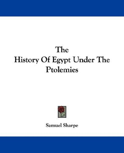 Download The History Of Egypt Under The Ptolemies