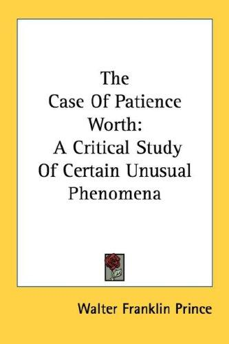 Download The Case Of Patience Worth
