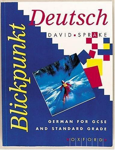 Blickpunkt Deutsch