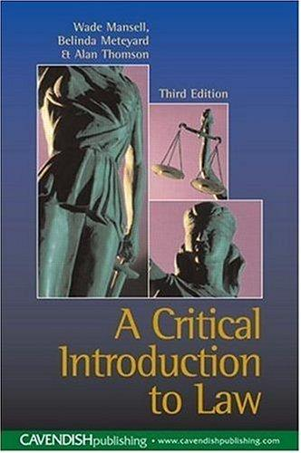 Download A critical introduction to law