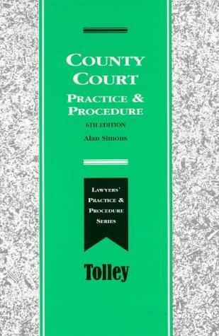 Download County Court Practice and Procedure