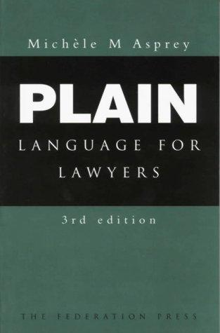 Plain language for lawyers