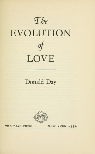The evolution of love by Donald Day