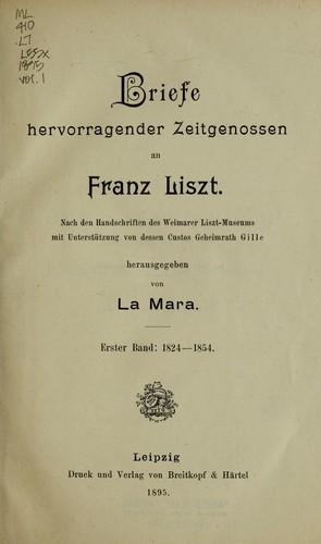 Download Briefe hervorragender zeitgenossen an Franz Liszt.