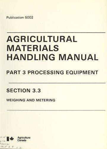 Agricultural Materials Handling Manual