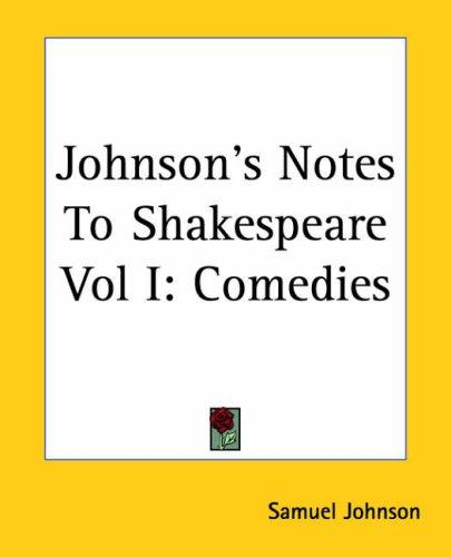 Download Johnson's Notes To Shakespeare