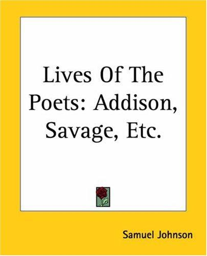 Download Lives Of The Poets