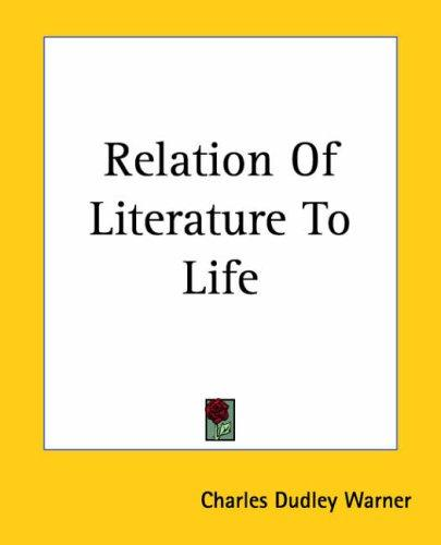Download Relation Of Literature To Life