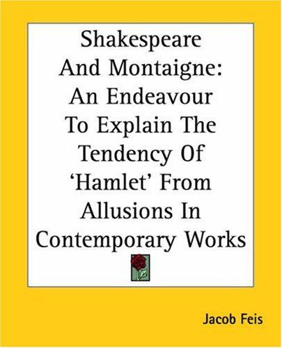 Download Shakespeare And Montaigne