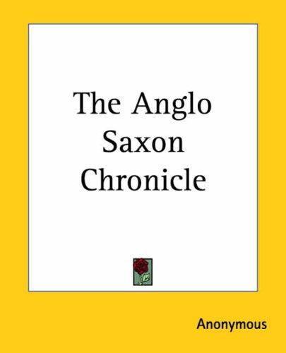 Download The Anglo Saxon Chronicle