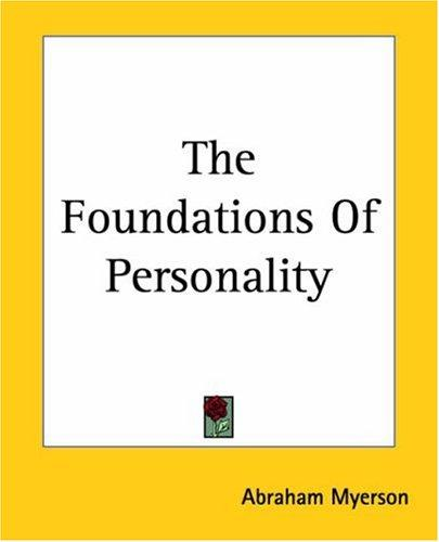 Download Foundations Of Personality
