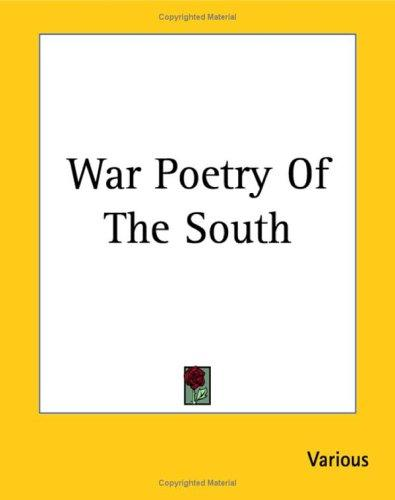 Download War Poetry of the South