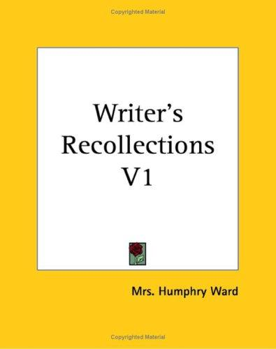 Writer's Recollections