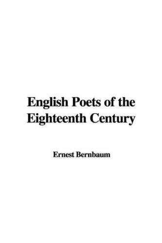 Download English Poets of the Eighteenth Century