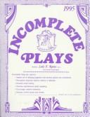 Download Incomplete Plays