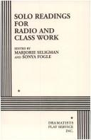 Download Solo Readings for Radio and Class Work