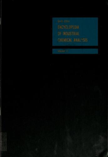 Encyclopaedia of Industrial Chemical Analysis