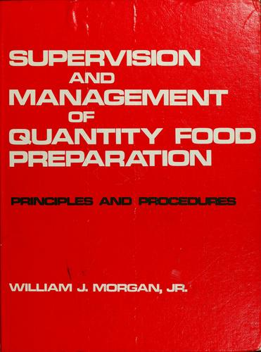 Download Supervision and management of quantity food preparation
