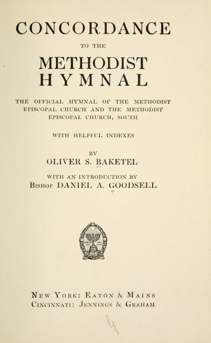 Concordance to the Methodist hymnal