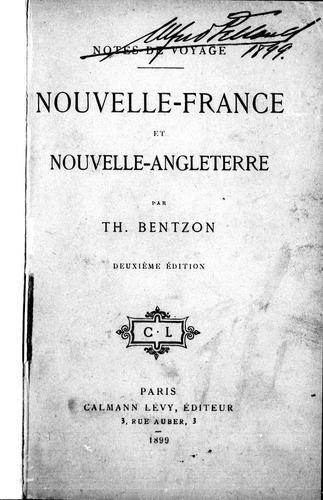 Nouvelle-France et Nouvelle-Angleterre