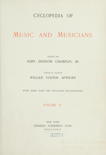 Cyclopedia of music and musicians.