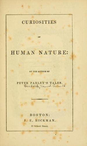 Download Curiosities of human nature