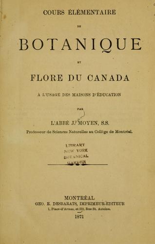 Download Cours élémentaire de botanique et flore du Canada à l'usage des maisons d'éducation