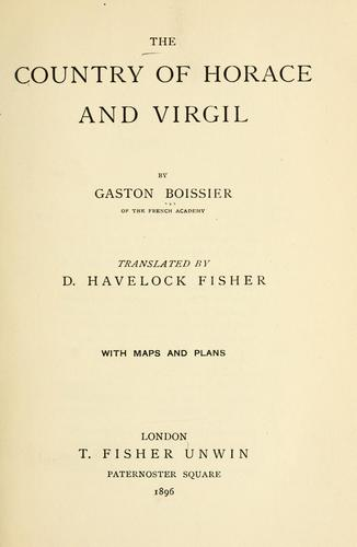 Download The country of Horace and Virgil