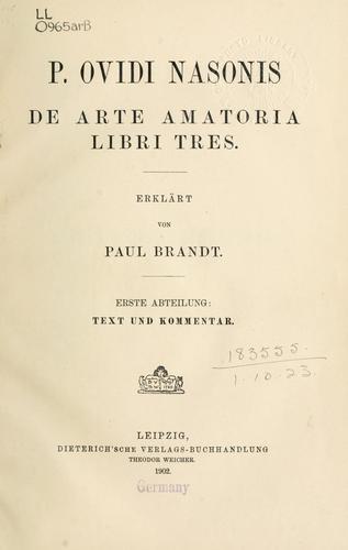 De arte amatoria libri tres