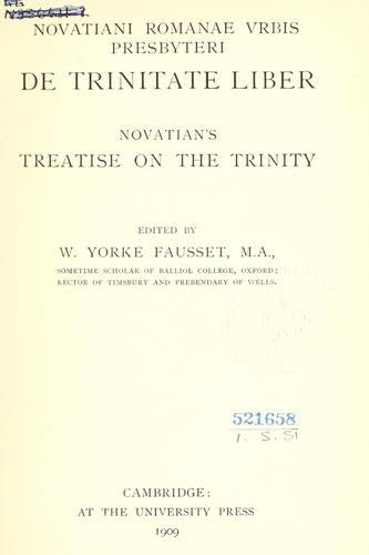 De trinitate liber