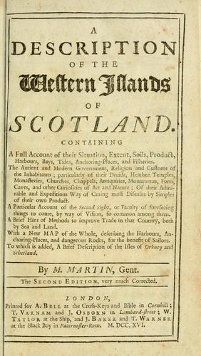 Download A description of the Western Islands of Scotland.