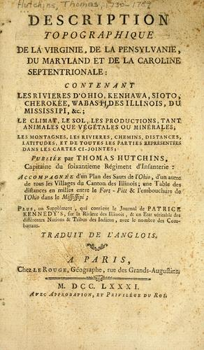 Download Description topographique de la Virginie, de la Pensylvanie, du Maryland et de la Caroline Septentrionale