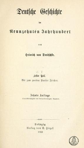 Deutsche Geschichte im neunzehnten Jahrhundert