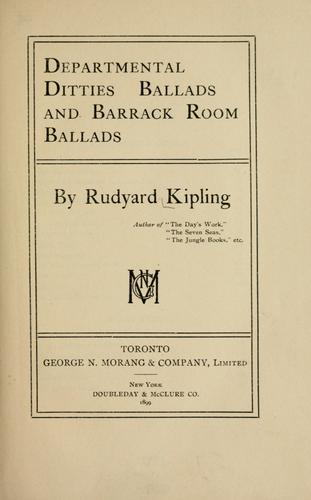 Departmental ditties and Ballads and Barrack-room ballads.