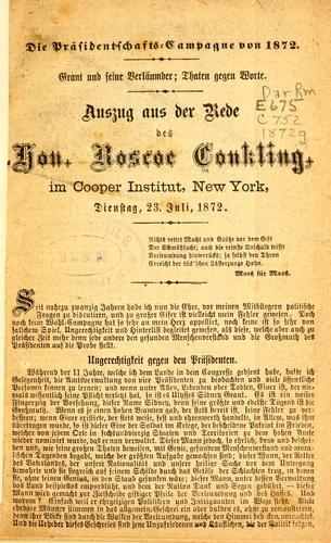 Die präsidentschafts – campagne von 1872