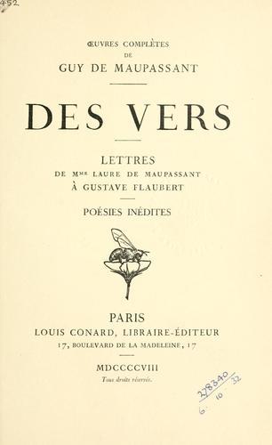 Des Vers.