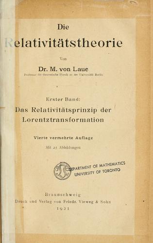 Download Die Relativitätstheorie.