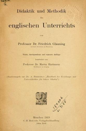 Download Didaktik und Methodik des englischen Unterrichts.