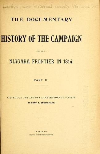 Download The documentary history of the campaign upon the Niagara frontier